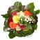Bouquet de muguet et roses multicolores