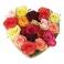 Coeur de roses Multicolores
