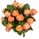 Bouquet rond 15 roses bicolores