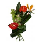 Bouquet de fleurs exotiques Hawaï