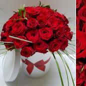 Bouquet FOLIE + BOITE CHAPEAU